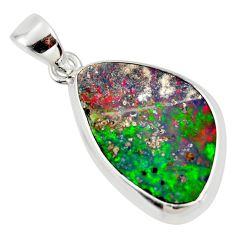 10.28cts natural blue doublet opal australian 925 sterling silver pendant r36102