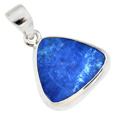 9.27cts natural blue doublet opal australian 925 sterling silver pendant r36103