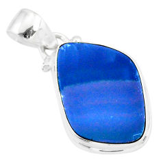 9.41cts natural blue doublet opal australian 925 sterling silver pendant r86166