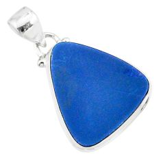 9.87cts natural blue doublet opal australian 925 sterling silver pendant r86177