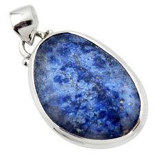 14.20cts natural blue dumorite (dumortierite) 925 sterling silver pendant r46578