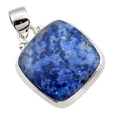 13.83cts natural blue dumorite (dumortierite) 925 sterling silver pendant r46579
