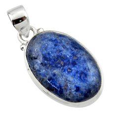 12.85cts natural blue dumorite (dumortierite) 925 sterling silver pendant r46580