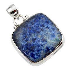 16.32cts natural blue dumorite (dumortierite) 925 sterling silver pendant r46608