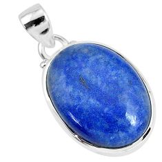 13.15cts natural blue dumortierite 925 sterling silver pendant jewelry r94594