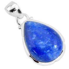 11.17cts natural blue dumortierite 925 sterling silver pendant jewelry r94595