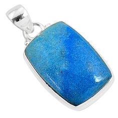 14.72cts natural blue dumortierite 925 sterling silver pendant jewelry r94636