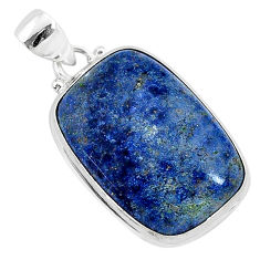 17.57cts natural blue dumortierite 925 sterling silver pendant jewelry r94743