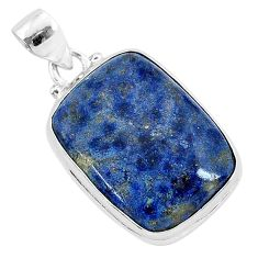 16.20cts natural blue dumortierite 925 sterling silver pendant jewelry r94746