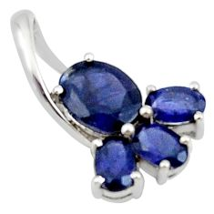 4.98cts natural blue iolite 925 sterling silver pendant jewelry r45681