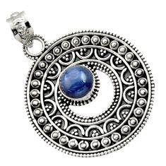 Clearance Sale- 12.17cts natural blue kyanite 925 sterling silver pendant jewelry d45077