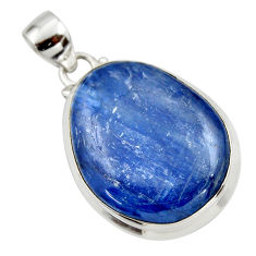 31.02cts natural blue kyanite 925 sterling silver pendant jewelry r44381