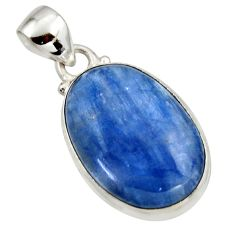 16.48cts natural blue kyanite 925 sterling silver pendant jewelry r44402