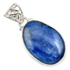 19.23cts natural blue kyanite 925 sterling silver pendant jewelry r44407