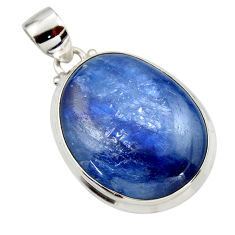 30.16cts natural blue kyanite 925 sterling silver pendant jewelry r44413