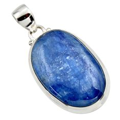 27.14cts natural blue kyanite 925 sterling silver pendant jewelry r44414