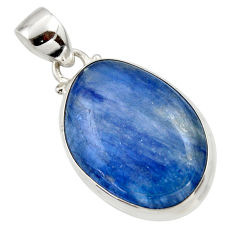 17.66cts natural blue kyanite 925 sterling silver pendant jewelry r44420