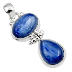 13.47cts natural blue kyanite 925 sterling silver pendant jewelry r46842