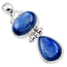 13.80cts natural blue kyanite 925 sterling silver pendant jewelry r46844