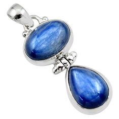 12.75cts natural blue kyanite 925 sterling silver pendant jewelry r46848