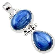 13.19cts natural blue kyanite 925 sterling silver pendant jewelry r46857