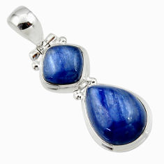 9.77cts natural blue kyanite 925 sterling silver pendant jewelry r46864