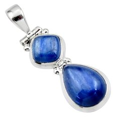 9.22cts natural blue kyanite 925 sterling silver pendant jewelry r46875