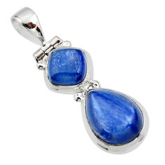 9.16cts natural blue kyanite 925 sterling silver pendant jewelry r46879