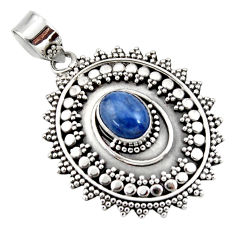 3.17cts natural blue kyanite 925 sterling silver pendant jewelry r47016