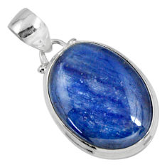 17.57cts natural blue kyanite 925 sterling silver pendant jewelry r56043