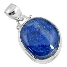 16.70cts natural blue kyanite 925 sterling silver pendant jewelry r56046