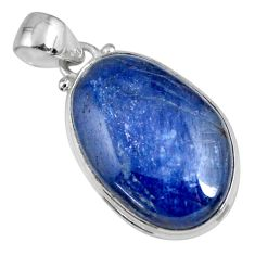 20.07cts natural blue kyanite 925 sterling silver pendant jewelry r56051