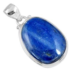 16.73cts natural blue kyanite 925 sterling silver pendant jewelry r56054