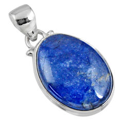 16.55cts natural blue kyanite 925 sterling silver pendant jewelry r56055