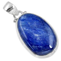 18.52cts natural blue kyanite 925 sterling silver pendant jewelry r56056