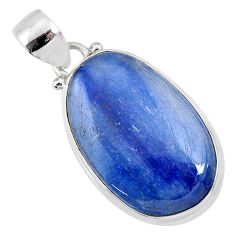 18.15cts natural blue kyanite 925 sterling silver pendant jewelry r64361