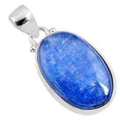 16.55cts natural blue kyanite 925 sterling silver pendant jewelry r64362