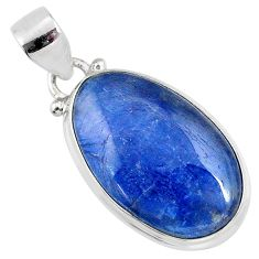16.68cts natural blue kyanite 925 sterling silver pendant jewelry r64364