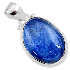 16.20cts natural blue kyanite 925 sterling silver pendant jewelry r64367
