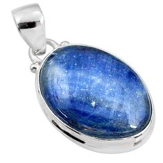 15.65cts natural blue kyanite 925 sterling silver pendant jewelry r64461