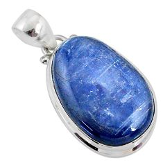19.23cts natural blue kyanite 925 sterling silver pendant jewelry r64465