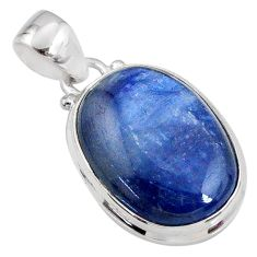 17.22cts natural blue kyanite 925 sterling silver pendant jewelry r64466