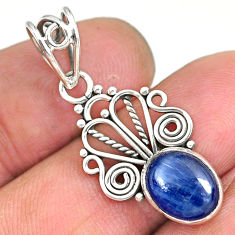 3.63cts natural blue kyanite 925 sterling silver pendant jewelry r90226