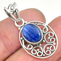 3.91cts natural blue kyanite 925 sterling silver pendant jewelry r90238
