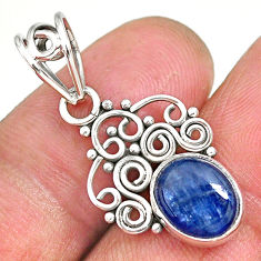 3.72cts natural blue kyanite 925 sterling silver pendant jewelry r90256