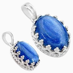 6.26cts natural blue kyanite 925 sterling silver pendant jewelry t20521