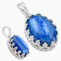 6.26cts natural blue kyanite 925 sterling silver pendant jewelry t20524