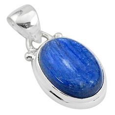 6.26cts natural blue kyanite 925 sterling silver handmade pendant t2161