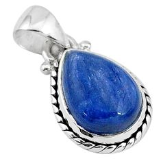 5.83cts natural blue kyanite 925 sterling silver handmade pendant t2186