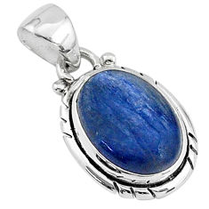 6.26cts natural blue kyanite 925 sterling silver handmade pendant t2195